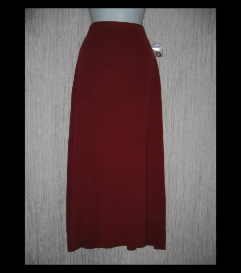 New DIALOGUE Long Red Acrylic Wool Knit Skirt Medium M