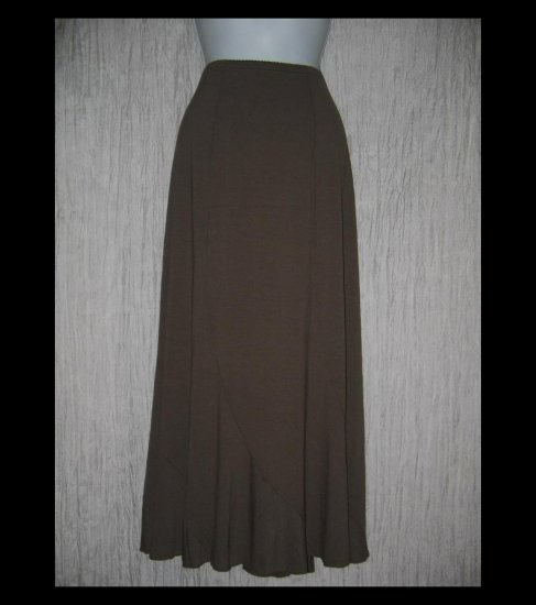 New J. Jill Long & Full Brown Circled Seams Knit Skirt X-Large XL