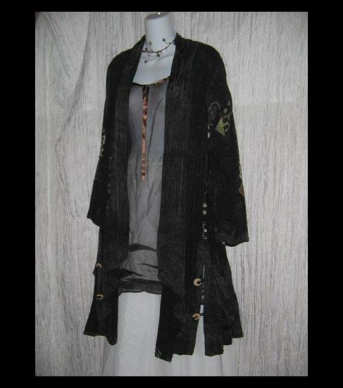 KUSNADI Long Loose Art to Wear Batik Duster Tunic Jacket OS