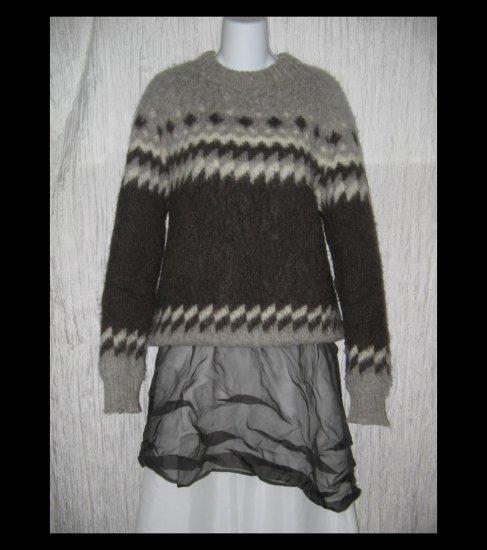Hilda Ltd. Soft Gray Icelandic Wool Fisherman Sweater X-Large XL