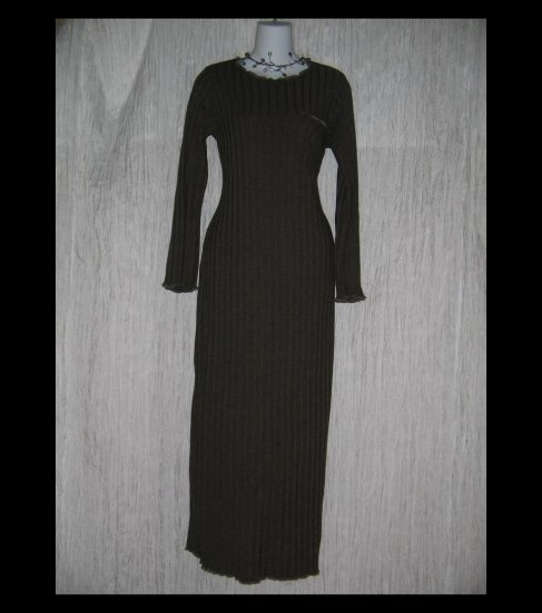 CLOTHESPIN Boutique Long Shapely Knit Dress Brown Small S