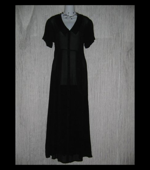 Angelheart Designs by Jeanne Engelhart Flax Shapely Black Dress Small S