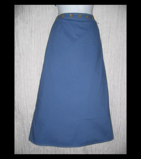 Solitaire Long A-Line Blue Button Pocket Skirt X-Large XL