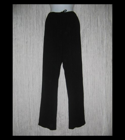 CHICO'S DESIGN Loose Slinky Black Drawstring Pants 2 M L
