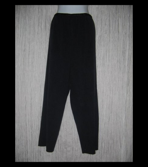 CHICO'S DESIGN Loose Black Silk Cotton Knit Pants 3 L XL