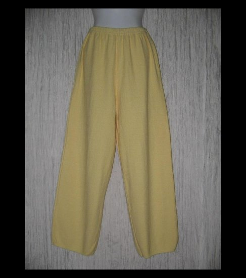 WILLOW Boutique Yellow Nubby Textured Knit Pants Medium M