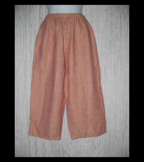 New Jackie Loves John Boutique LINEN & Silk Cropped Beach Pants Medium M
