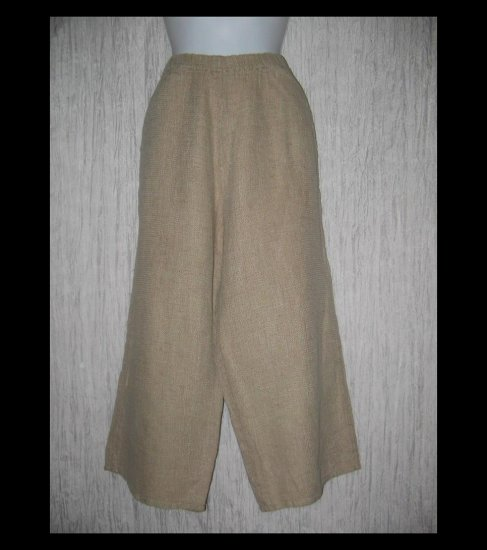 FLAX by Jeanne Engelhart Thermal LINEN Floods Pants Medium M