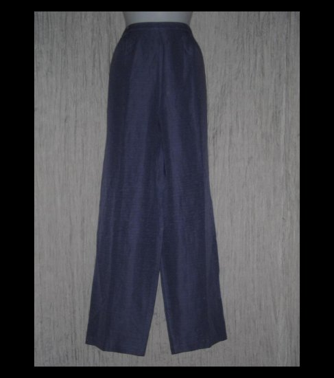 Coldwater Creek Rich Textured Purple Silk & Linen Pants X-Large XL