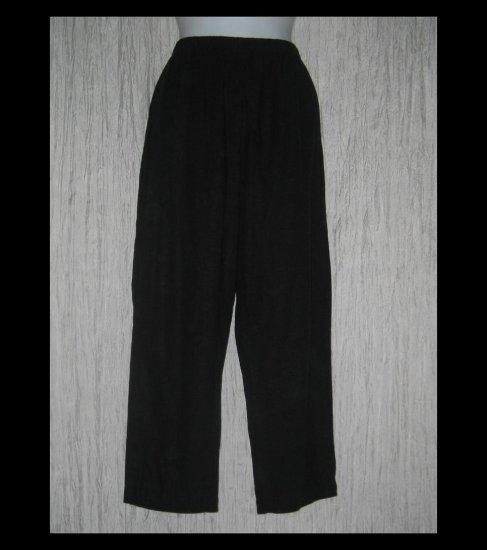 Basic Threads Santa Monica Soft Black LINEN & Rayon Pants Large L