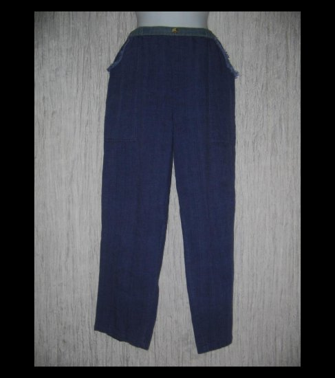 KINDRED SPIRITS Purple Handwoven Cotton Art to Wear Pants Medium M