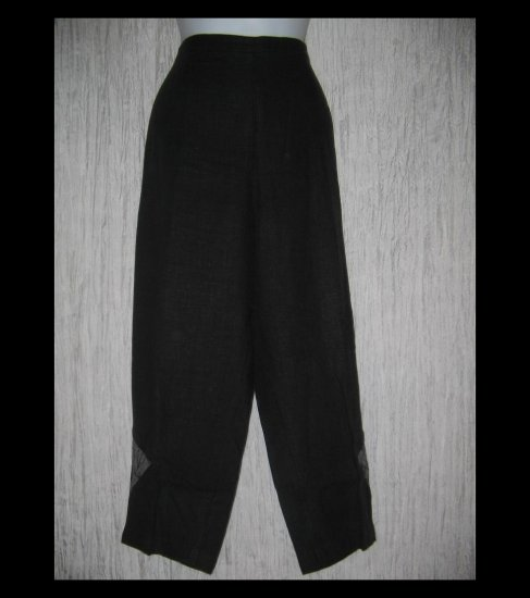NANNETTE KELLER Long Black Art to Wear Patch Pants X-Large XL