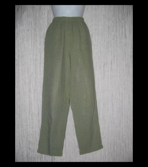 ALYWEAR Boutique Long Sage LINEN Pants Large L