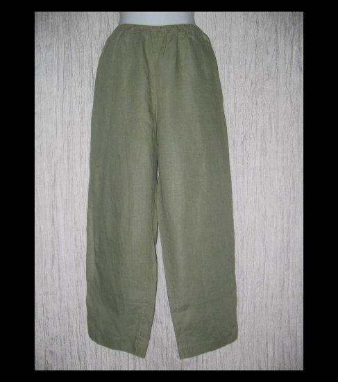 J. Jill Long & Lean Gray LINEN Pants Medium M