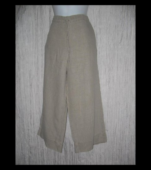 Banana Republic Long Loose Natural Linen Drawstring Pants X-Small XS