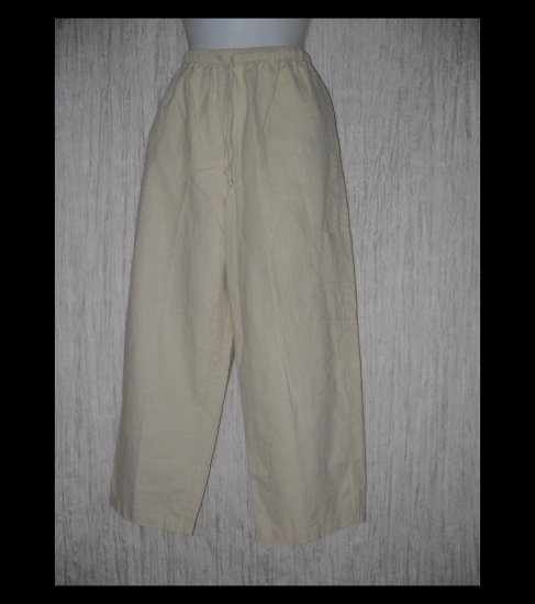 Coldwater Creek Linen Rayon Drawstring Pants Medium M