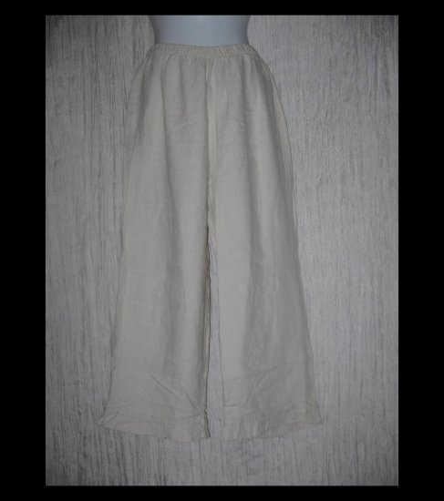 Chalet Boutique Ruffled Linen Wide Leg Pants Large L
