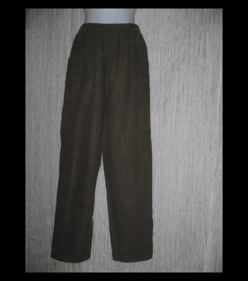 FLAX by Jeanne Engelhart Long Brown LINEN Pants Small S