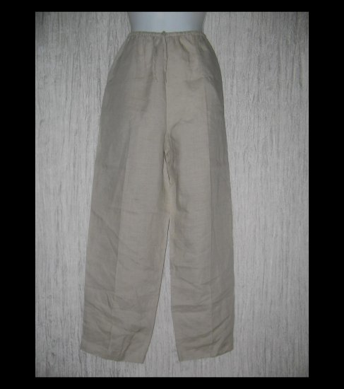 Allison Taylor Long Linen Drawstring Pants Medium M