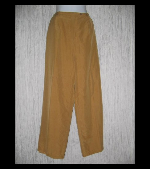 LEILEI Elegant Long Lined Silk & Wool Trousers Pants X-Large XL