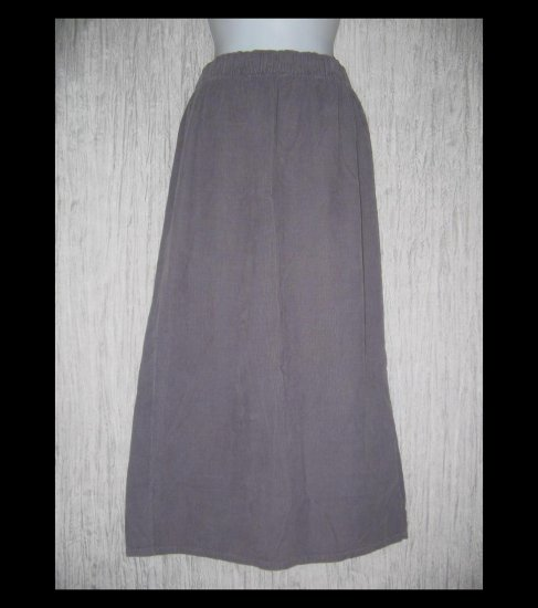 Bryn Walker Long Shapely Soft Gray Corduroy Skirt Medium M