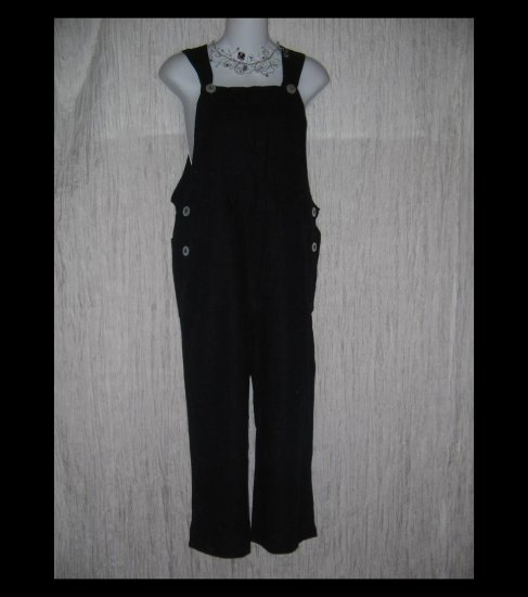 Wind River Black Linen & Rayon Capri Pants Overalls Small S