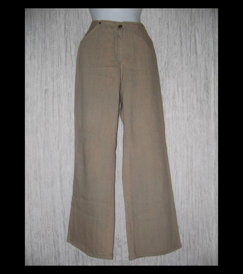 SOLITAIRE Loose Cut Artsy Light Brown Denim Jeans 10 / 12