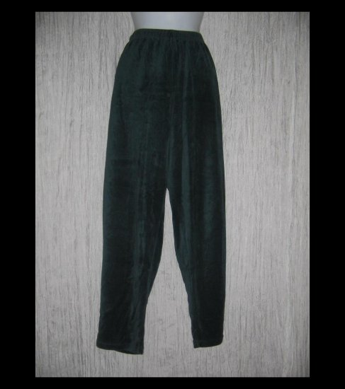 Coldwater Creek Soft Jewel Blue Velour Leggings Pants 1X
