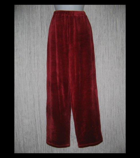 Coldwater Creek Soft Red Velour Pants Medium M