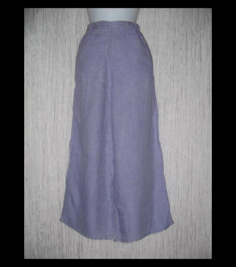 FLAX by Jeanne Engelhart Purple LINEN Sailoring Pants Wide Leg Floods Small S