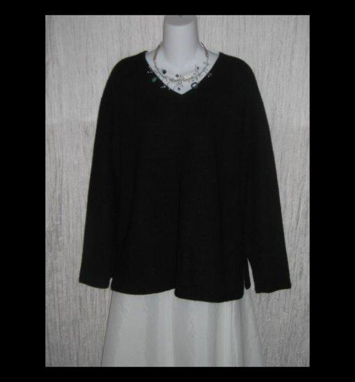 J. Jill Soft Black 100% Cashmere Lagenlook Tunic Sweater 2X