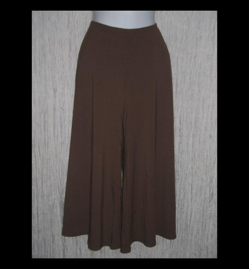 New J. Jill Soft Chocolate Brown Rayon Knit Gauchos Pants Large L