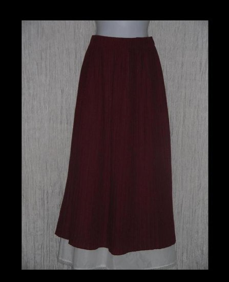 TWEEDS Long & Full Russet Pleated Cotton Skirt Large L