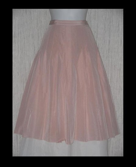 Blugirl Blumarine Full & Fluttery Pleated Calf Length Vintage Pink Skirt 41