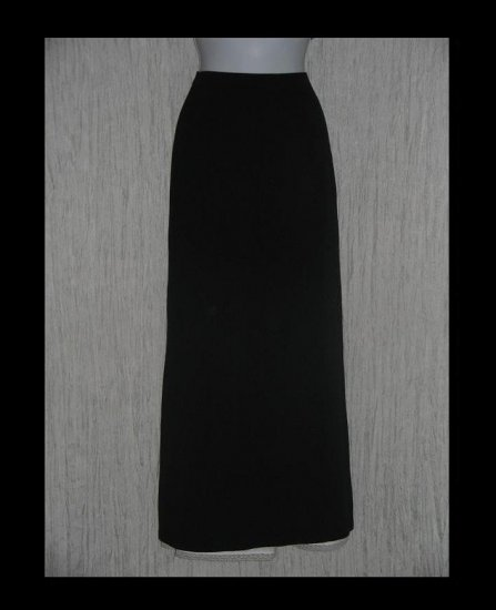 J. Crew Long Simple Black Elegant Rayon Knit Skirt Small S