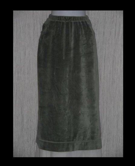 J. Jill Soft Sage Green Velour Drawstring Skirt Large Petite LP