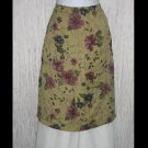 Karavan Trading Company Rich Floral Knee Skirt Large L