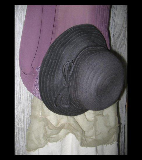 NEW Liz Claiborn Elegant Wide Brim Charcoal Gray Wool Hat Classic