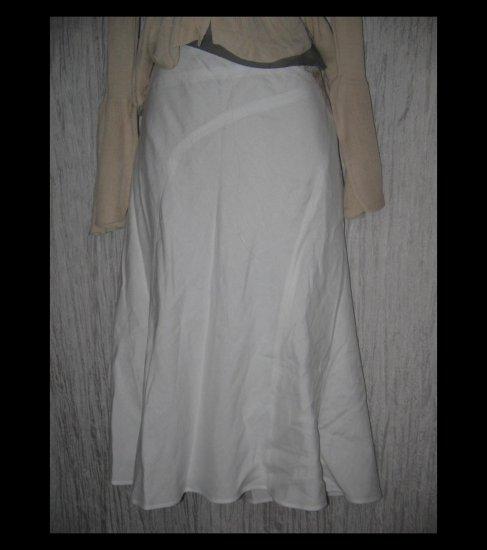 New Emma James Full & Fluttery Calf Length White Ecru Embroidered Flower Skirt 18W