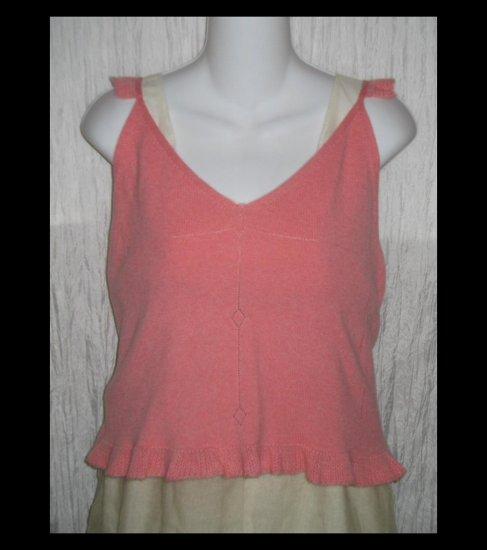 New MaxStudio Soft Azalea Pink Cashmere Tunic Top Sweater Medium M
