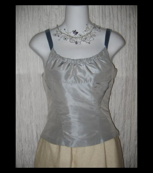 New CALYPSO Christiane Celle Shapely Blue Silk Ribbon Corset Top X-Small XS