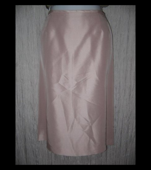 TAHARI Arthur S. Lavine Shapely Pale Pink Silk Knee Skirt 18