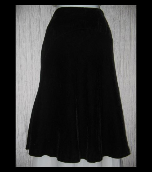 New Tapemeasure Full Fluttery Black Velvet Party Curcuit Skirt 14W