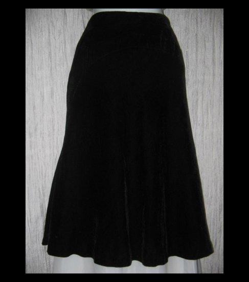 New Tapemeasure Full Fluttery Black Velvet Party Curcuit Skirt 14W