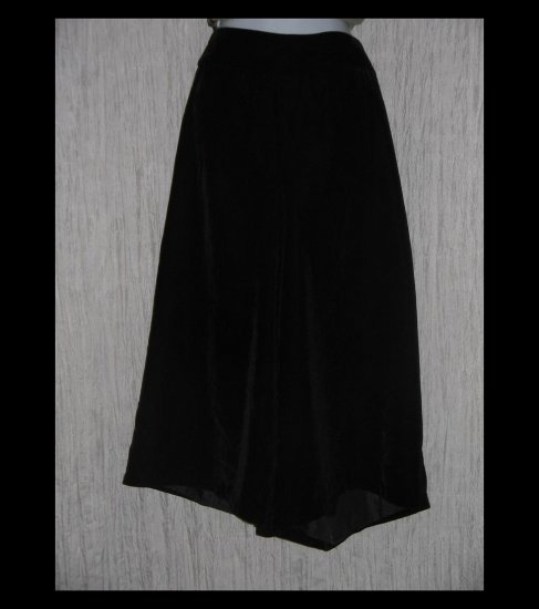 New NY Collection Loose Black Rayon Velvet Gauchos Pants 20
