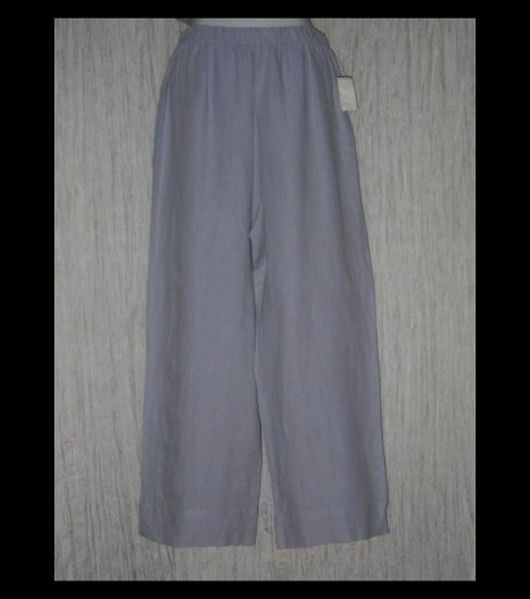 New HOT COTTON by Marc Ware Blue Wide Leg Linen Pants Small