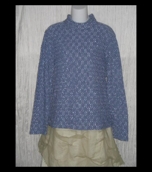 J. Jill Purple Textured Knit Turtleneck Tunic Top Shirt X-Large XL