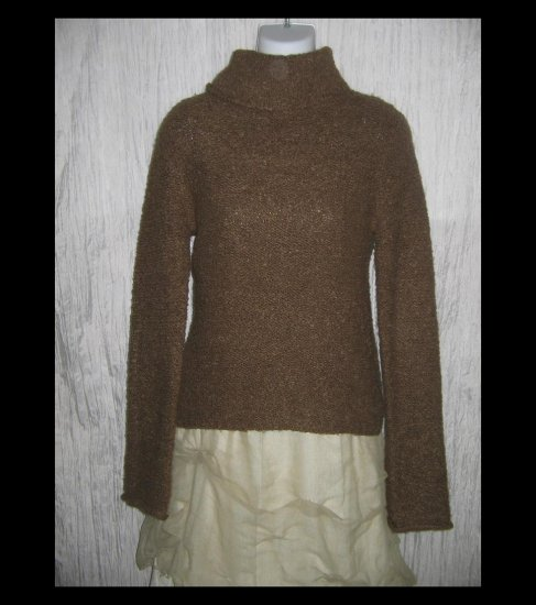 J. Crew Brown Nubby Knit Turtleneck Tunic Sweater Small S