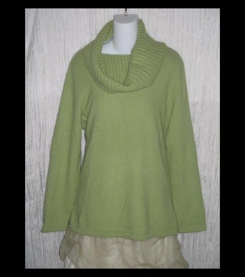 SARAH SPENCER Woman Soft Green Angora Turtleneck Sweater Tunic Top 1X