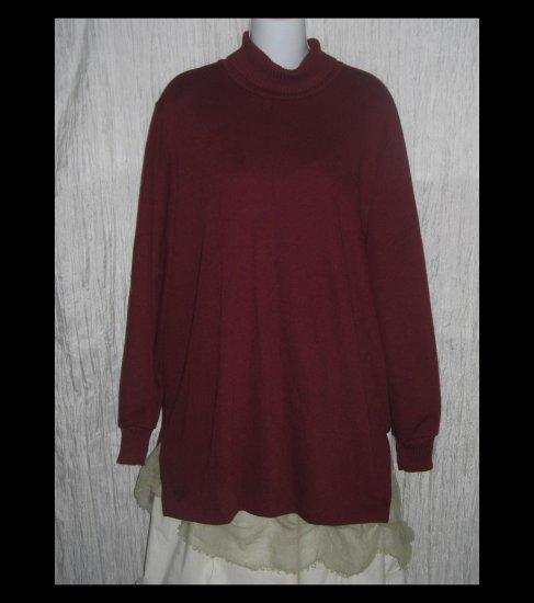 Weekenders Long Russet Turtleneck Sweater Tunic Top X-Large XL TG